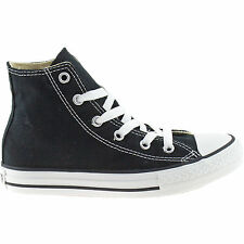 BOYS GIRLS INFANTS CONVERSE BLACK HI TOPS ALL STAR UNISEX CANVAS BOOTS 7J231