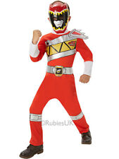 Dino Charge Classic Power Rangers Red Outfit Fancy Dress Costume Boys (3-8y)