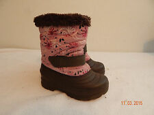 Girls Toddler Boots Size 10 RUGGED OUTBACK  Nice Winter Fall brown pink