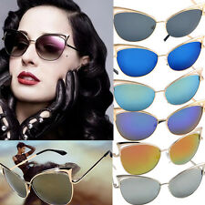 Woman's Retro Cat Eye Sunglasses Classic Design Fashion Shades Vintage Glasses