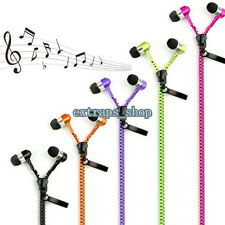 Jack 3.5 mm In-ear Zipper Stereo Hands-free Headphones Earphones Earbud With Mic