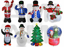 4ft or 8ft INFLATABLE CHRISTMAS BLOW UP DECORATIONS SNOWMAN SANTA PENGUIN TREE