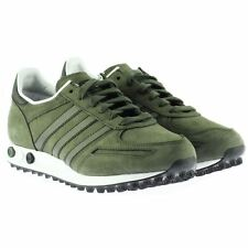 Adidas Originals LA Trainer Men's Khaki Green Leather Retro Sneakers