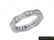 1.20Ct Round Brilliant Diamond Wave Eternity Eternity Band Ring 18K Gold G SI1