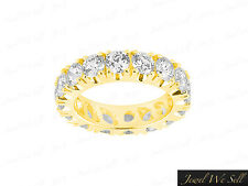 Natural 3.00Ct Round Brilliant Cut Diamond Eternity Band Ring 18K Gold H SI2