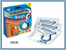 3 SACHET BAG MOISTURE DEHUMIDIFIERS STOP ABSORBS DAMP CONDENSATION MILDEW MOULD