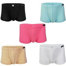 Mens Sexy Trunks Boxer Brief Shorts Underwear Bulge Pouch Bikini Swim Underpants