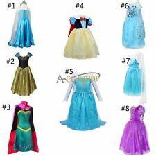 Christmas Kids Girls Long Gown Dress Princess Party Halloween Cosplay Costume