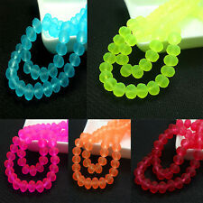 40pcs Faceted Crystal Jewelry Making Glass Loose Spacer Beads Interval Beads 8mm