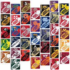 "Licensed NCAA University College Tech Painted Soft Fleece Throw Blanket 50""x60"""
