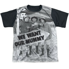 Three Stooges Comedic Icons We Want Our Mummy Big Boys Black Back T-Shirt