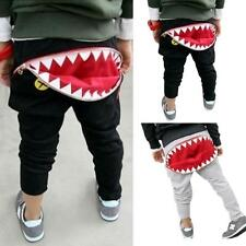 New Children Kids Boys Pants Zipper Shark Teeth Trousers Cool Harem Pants (2-7Y)