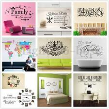 New Removable Art Vinyl Word Quote Wall Sticker Decal Mural Home Room DIY Decor