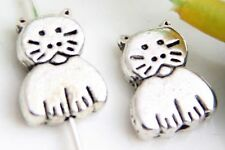 Wholesale 24/53Pcs Tibetan Silver Cat Spacer Beads11x9mm(Lead-free)