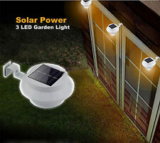 Solar Powered Garden Wall Fence Gutter Shed Lobby Pathway Outdoor LED Light Lamp