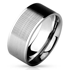 Stainless Steel Men's Multi Groove Wedding Band Ring Size 9-13