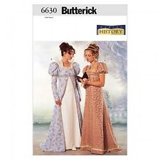 Free UK P&P - Butterick Ladies Sewing Pattern 6630 Historical Costume Coa...