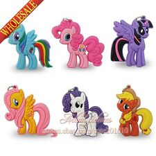 40PCS My Little Pony 2D Charms pendants Keychains mobile phone pendants Gifts