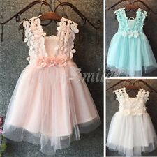 Flower Girl Baby Sequin Tulle Tutu  Dress Princess Vintage Party Wedding Gift