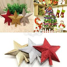 Fancy Bling Christmas XMAS Tree Topper Star Christmas Tree Ornament Decoration