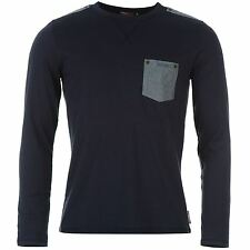 Lee Cooper Mens Champion Long Sleeve Crew Neck T Shirt Tee Top Clothing Wear