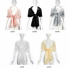 Silky Light Wrap Stole Shawl Wedding Bridal Bridesmaids Evening Wear Party Scarf
