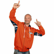Denver Broncos Hands High Full Zip Hoodie - Orange