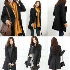 New Women Trench Coat Winter Double Breasted Long Jacket Overcoat Thicken Parka