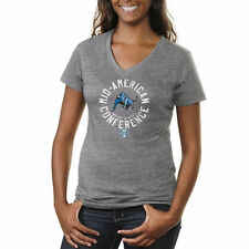 Buffalo Bulls Women's Conference Stamp Tri-Blend V-Neck T-Shirt - Ash - College