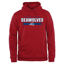 Stony Brook Seawolves Team Strong Pullover Hoodie - Red - College
