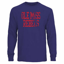 Ole Miss Rebels Straight Out Long Sleeve T-Shirt - Royal - College
