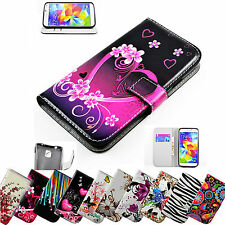 Men Women Wallet Card Slots PU Leather Case Cell Phone Flip Cover For Samsung