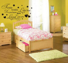 TWINKLE TWINKLE wall sticker little star children nursery quote kids baby art