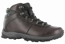 Womens Hi-tec Eurotrek II Waterproof Brown Leather Hiking Walking Boots Size 3-8