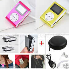USB Clip MP3 Player Music LCD Screen Support Micro SD/TF Card 2/4/8/16/32GB Lot