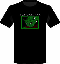 Geek T-shirt Yoda Judge me by my size