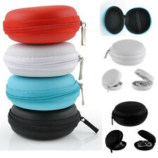 New Portable Mini Round Hard Storage Case Bag for Earphone Headphone SD TF Cards