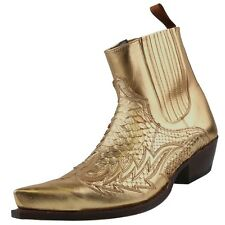 SENDRA Boots Men boots Ankle boots Python leather Boots Mens-boots Gold
