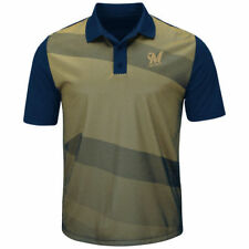 Milwaukee Brewers Majestic Late Night Prize Polo - Gold/Navy - MLB