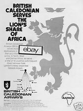 BRITISH CALEDONIAN AIRWAYS 1977 SERVES LION'S SHARE OF AFRICA 12 COUNTRIES AD