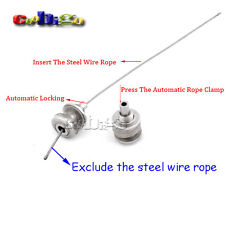 """1/8"""" Hole Automatic Rope Clamp Steel Wire Rope Rigging For Hanger Hardware"""