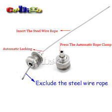 "1/8"" Hole Automatic Rope Clamp Steel Wire Rope Rigging For Hanger Hardware"
