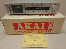 Vintage Home Stereo Cassette Tape Deck Old School Akai CS-F14 with Box