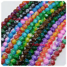 15pcs 12mm Round Chic Glass Loose Spacer Charms bead Beads Pick Colors Mixed G07