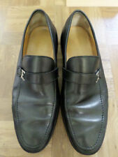 BALLY SWITZERLAND New Cally black leather logo buckle modern loafers 10D