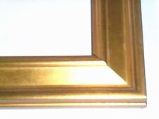 1 1/4 Small Aged Gold Leaf Plein Air Picture Frame-Custom Square Size