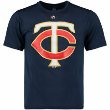Minnesota Twins Majestic Synthetic Official Logo T-Shirt - Navy - MLB