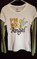 Disney~Tinker Bell Turquoise Long Sleeve Layereed T Shirt~NWT~Sz Lg 11/13