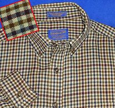 M GREAT SIR PENDLETON WOOL TAN BURGUNDY GREEN BLUE CHECK PLAID SHIRT PLAID MEN