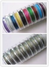 NEW 100 Meter(10 Roll)Silver/Mixed Copper Tiger Tail Beading Wire/0.38